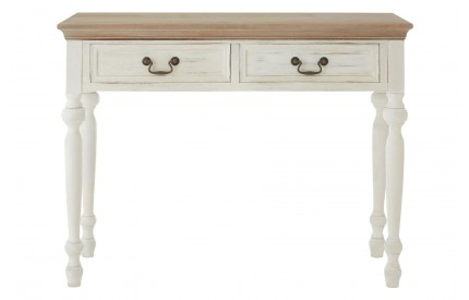 Hendra Console Table 2 Drawers Fir Veneer