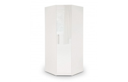 Charms High Gloss White Corner Wardrobe