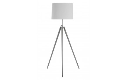 Unique Tripod Floor Lamp Cream Shade UK Plug