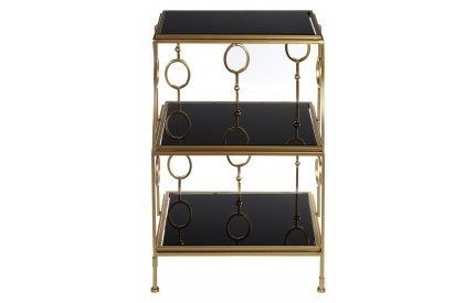 Scenic Shelf Unit Black / Gold Metal 3 Tier