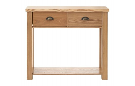 Westbury Console Table 2 Drawer MDF/Oak Veneer