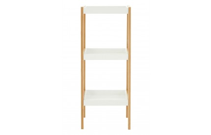 Nostra Shelf Unit Three Tiers White/Natural