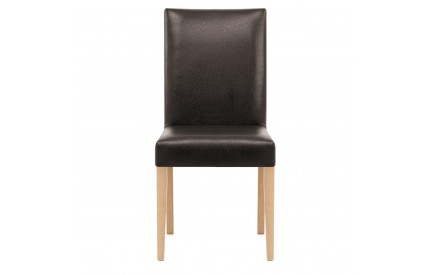 Leather Dining Chair Brown