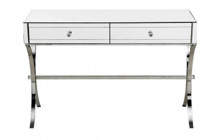 Glimmer Console Table Mirrored Glass Stainless Steel