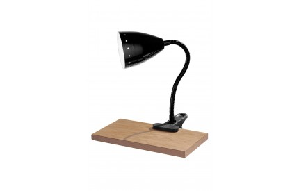Flexi Desk Lamp (EU Plug) Clip Black