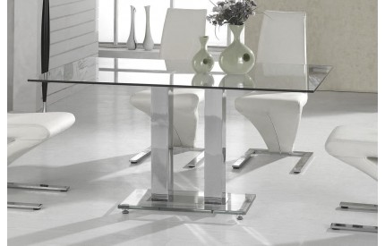 Antalya Large Dining Table Chrome