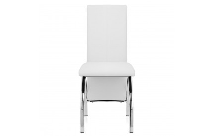 Chrome Leather Dining Chair
