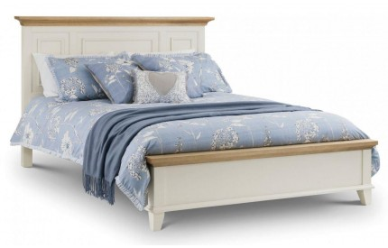 Portland Solid Bed Ivory & Oak