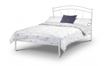 Miah High Gloss White Bed