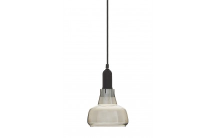 Indigo Pendant Light Iron / Smoked Glass