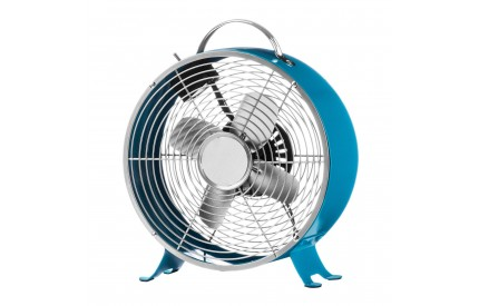 Retro Desk Fan 2 Speeds Blue