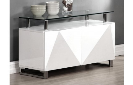Regis White High Gloss Sideboard 2 Doors