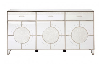 Buckingham Townhouse 3 Door Mirrored Sideboard