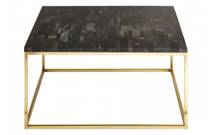 Newcity Coffee Table Dark Petrified Wood Powder Coated Iron