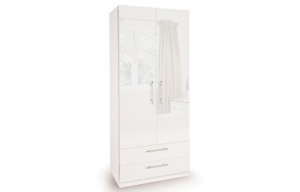Charms High Gloss 2 Door 2 Drawer Wardrobe