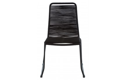 Sisal Chair Steel Frame Black Rope
