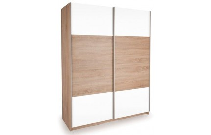 Vermont Oak Slider 1 Oak + 1 High Gloss White