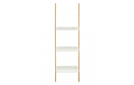 Nostra Shelf Ladder Unit Three Tiers White/Bamboo