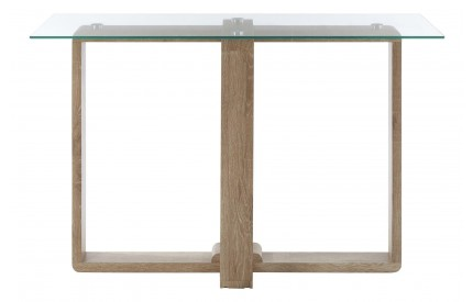 Barton Console Table Clear Tempered Glass Veneer Legs