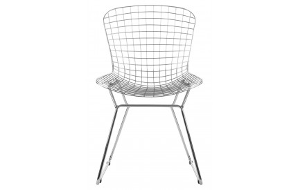 Precinct Wire Chair Chrome Metal