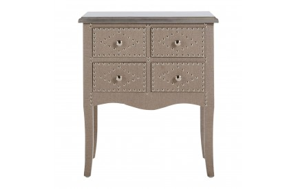 Manhattan Console Table 4 Drawer Stone Linen