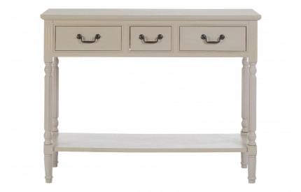 Anchor Console Table Rectangular / 3 Drawers Vintage Grey
