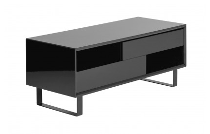 Glitz Coffee Table Black High Gloss 2 Shelves