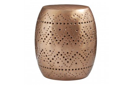 Moonlight Cutwork Drum Stool Copper Finish