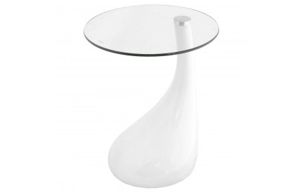 Mountly High Gloss Droplet Lamp Table White