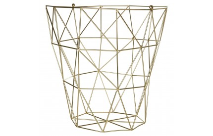 Vertex Bin Basket Gold Finish Iron Wire