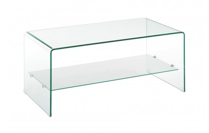 Matrix Coffee Table 2 Tier Bent Glass