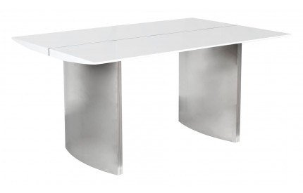 Luna Medium High Gloss White Dining Table