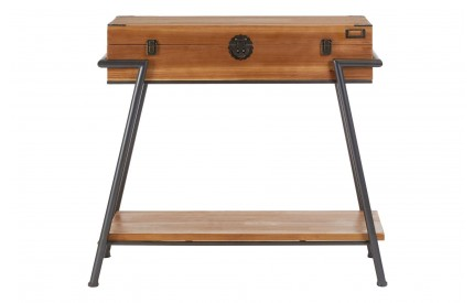 Indigo Console Table Fir Wood Metal