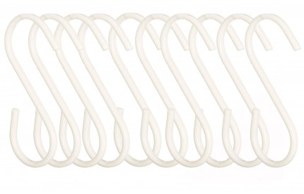 Hanging Hooks Set of 10 White
