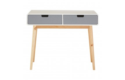 Milo Console Table White / Grey Pine Wood Legs