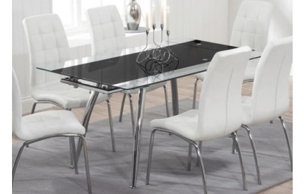 Volcan Extending Table Black & Chrome