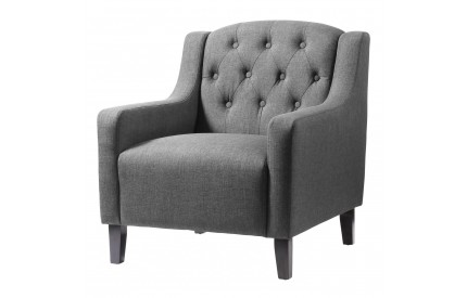 Emily Fabric Arm Chair Grey