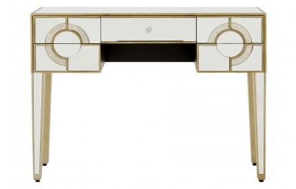 Warwickshire Console Table Mirrored Glass 5 Drawer