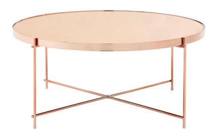 Premium Coffee Table Rose Gold Mirror Rose Gold Legs