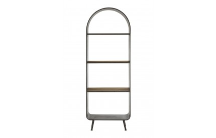 Trinity Tall Shelf Unit Fir Wood Metal