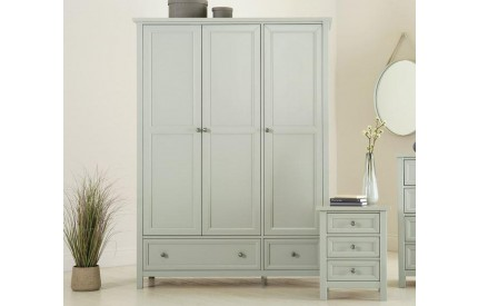 Maine 3 Door Combination Wardrobe - Dove Grey