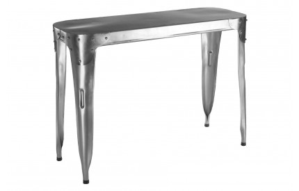 Aviator Console Table Stainless Steel Antique Silver