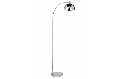 Calle Floor Lamp Foot Switch Chrome Finish Metal