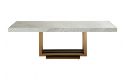 Moda Coffee Table White Marble Top Rose Gold Legs
