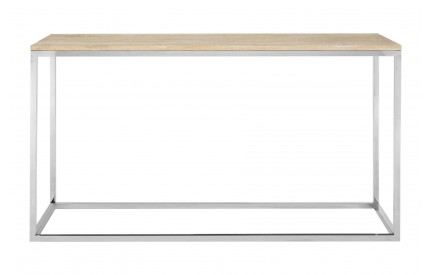 Sherlock Console Table Oak Wood / Stainless Steel