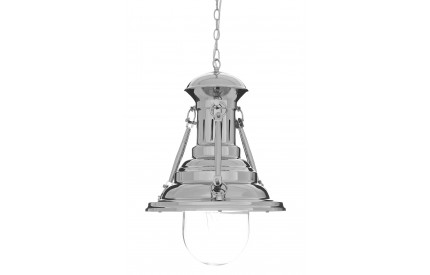 Lexwork Pendant Light Chrome/Glass Large