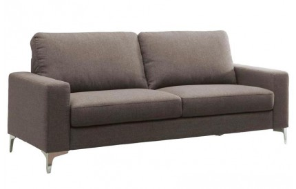 Sally Fabric 3 Seater Sofa Brown