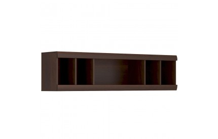 Imperial Wall Shelving Unit Mahogany