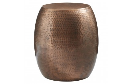 Moonlight Drum Stool Copper Finish