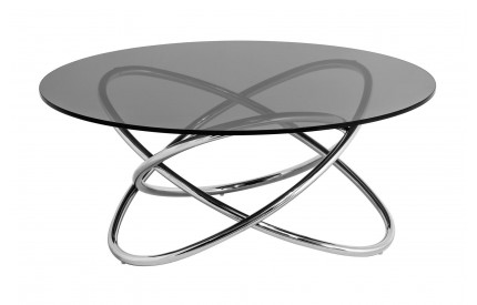 Coffee Table Smoke Glass Top Stainless Steel Frame